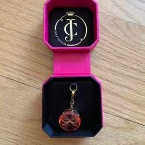 Juicy Couture Pink Jewel Gold Bow Charm
